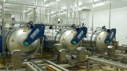 autoclave industriel pour la pasteurisation et la stérilisation